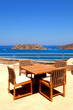 Terrace seaview with furniture in luxury resort(Greece)