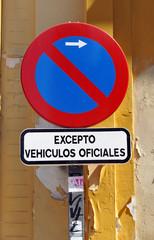 Señal de prohibido aparcar