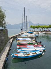 Boats at Garda on Lake Garda near Sirmione  Italy