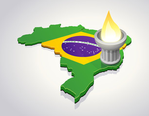 Flame in Brazil