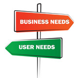 Business needs versus User needs