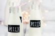 Glass Bottles of Milk