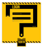 Login form. Username/Email adress and Password required poster