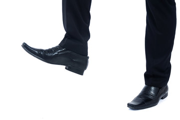 Foot step closeup