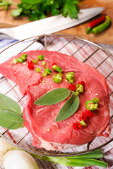 Raw beef steak- Bistecca di Manzo