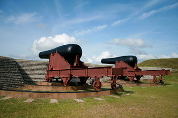 Cannoni a Fort Moultrie in South Carolina