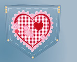 needlework heart poster