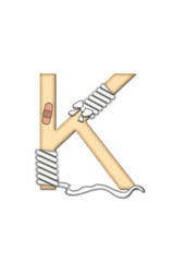Alphabet Set Boo Boo K
