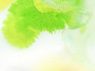 Abstract colorful watercolor hand painted background
