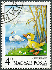 HUNGARY - 1987: shows the Ugly Duckling, by Andersen