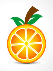 abstract vector orange fruit