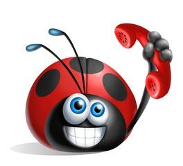 cocciella telefono rosso