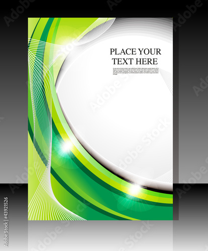 abstract glossy green falyer