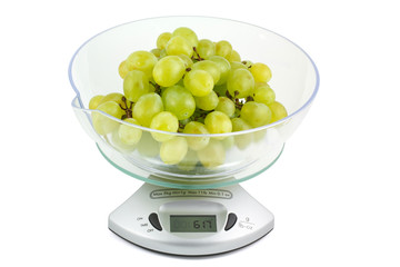 Grapes on the electronic balance