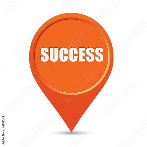 Success map pin