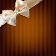 Holiday banner with ribbons. Vector background