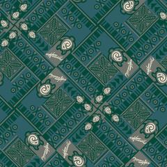 Hawaiian tribal seamless pattern