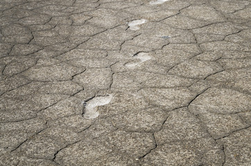 Footsteps in salt