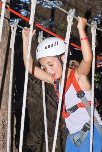 Girl in a adventure park