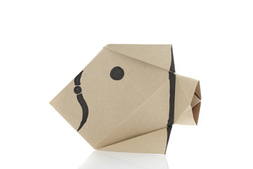 Origami fish by recycle papercraft
