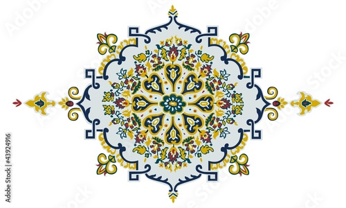 Floral and Geometric Composition
