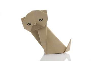 Origami dog by recycle papercraft