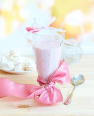 Fresh raspberry smoothie