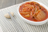 Kimchi - Korean fermented spicy nappa cabbage side dish.