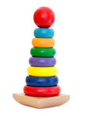 Colorful Wooden Pyramid toy