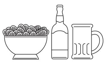 Bowl, Bottle and Mug