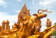 Thai style wax angel  statue in Candle Festival in Tha