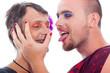 Transvestites flirting