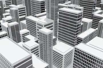 Edificios rascacielos en la ciudad