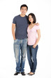 Full Length Studio Shot Of Chinese Couple