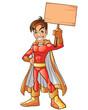 Orange Super Hero Boy