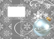 Christmas decorations on a gray background