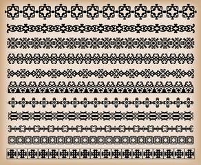Borders. Set of for design. Calligraphic design elements