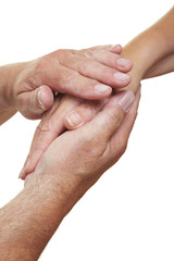 Hände geben Trost