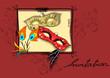Fasching, Karneval Einladung Karte