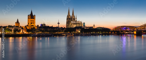 Leinwandbild Motiv Cologne Skyline