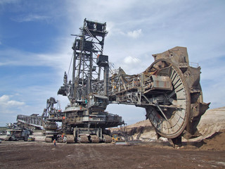 Schaufelradbagger im Bergbau