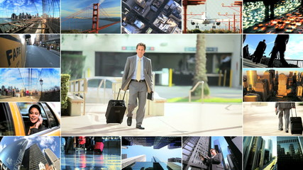 Montage Business People Travel and Technology