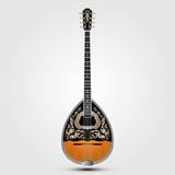 realistic greek folk musical instrument on clean background