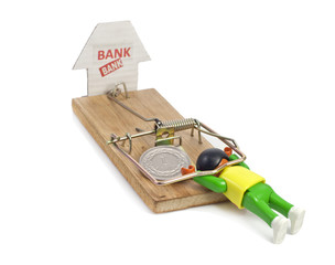 mousetrap set by the bank and polish zloty