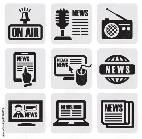 newspaper media icons