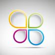 Colorful Speech Bubble # Vector