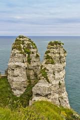 Two peaks of ladies room in Etretat - French seaside resort