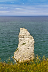 "Rock ""Eagle"" (aiguilles) in Etretat - French seaside resort"