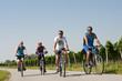 Eine Gruppe Radfahrer