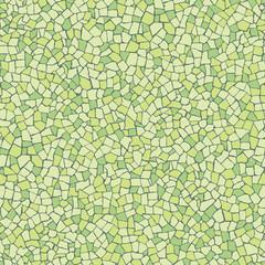 Broken tiles green square pattern